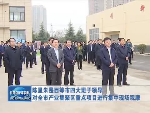 陈星朱是西等市四大班子领导对产业集聚区重点项目观摩