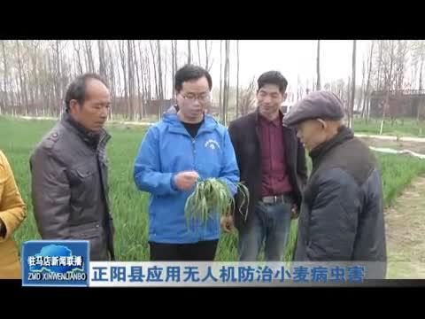 正阳县应用无人机防治小麦病虫害