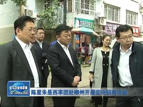 陈星朱是西率团赴柳州开展定向招商活动