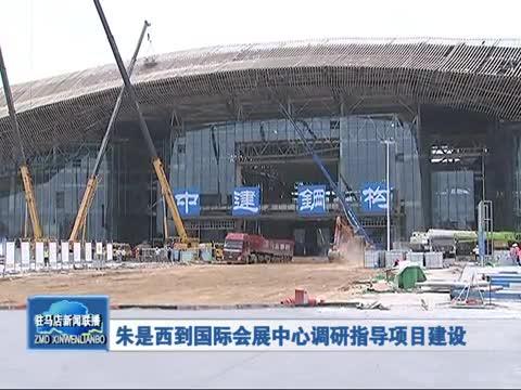 朱是西到国际会展中心调研指导项目建设