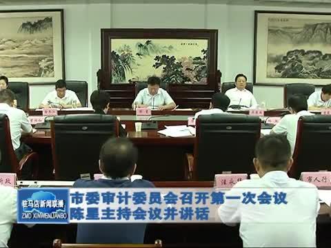 市委審計委員會召開第一次會議 陳星主持會議并講話