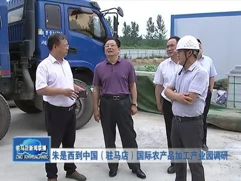 朱是西到国际农产品加工产业园调研