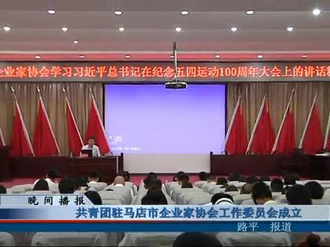 共青团驻马店市企业家协会工作委员会成立