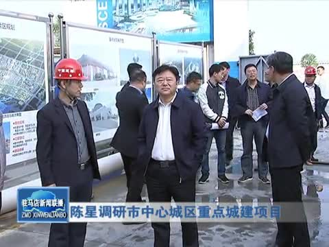 陈星调研市中心城区重点城建项目