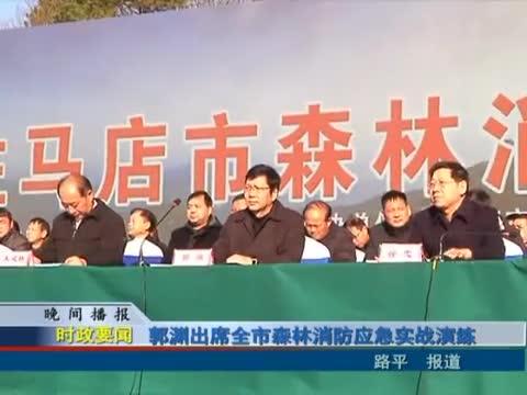 郭淵出席全市森林消防應急實戰演練