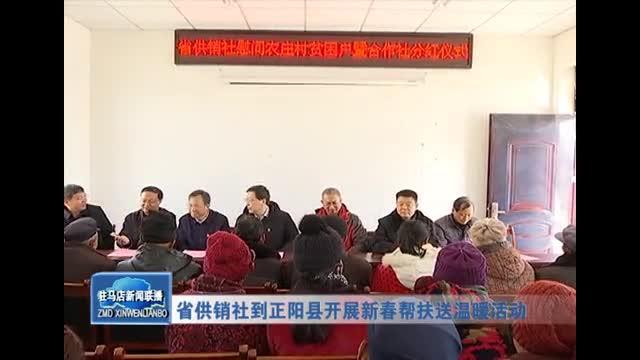 省供銷社到正陽縣開展新春幫扶送溫暖活動
