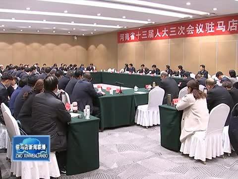出席省十三届人大三次会议驻马店代表团举行全体会议