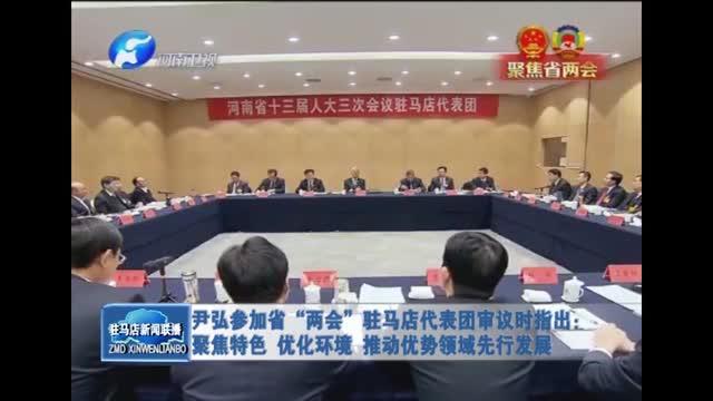 尹弘参加省两会驻马店代表团审议