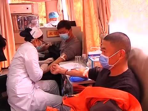 党员志愿者踊跃献血