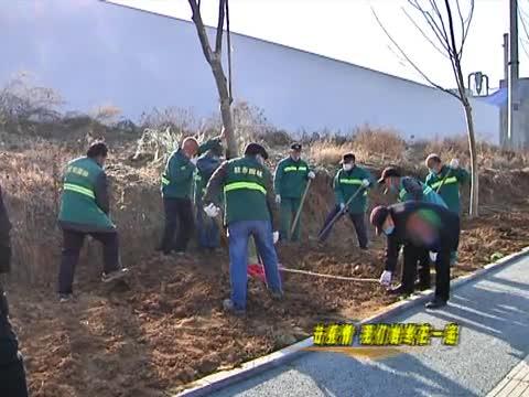 市园林绿化中心防疫施工两不误