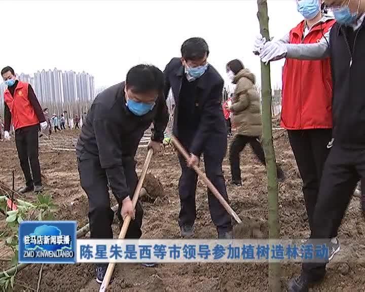 陈星朱是西等领导参加植树造林活动
