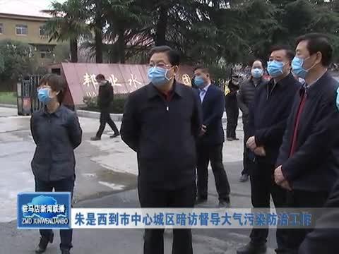 朱是西到市中心城區暗訪督導大氣污染防治工作