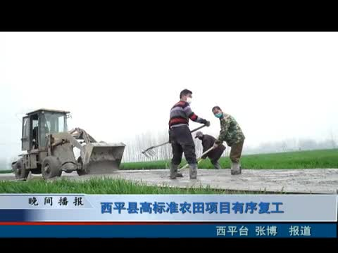 西平县高标准农田项目有序复工