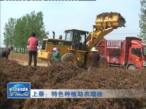 上蔡:特色种植助农增收
