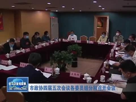 市政协四届五次会议各委员组分别召开会议