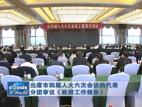 出席市第四屆人大六次會議的代表分團審議《政府工作報告》