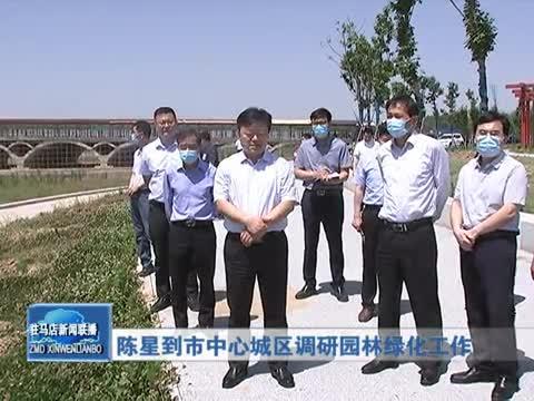 陳星到市中心城區調研園林綠化工作
