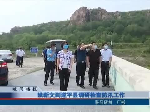 姚新文到遂平县调研检查防汛工作