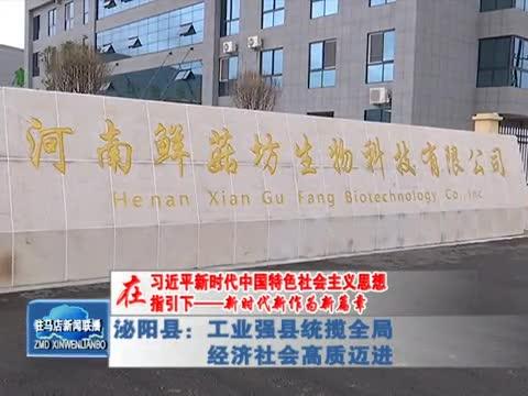 泌阳县:工业强县统揽全局 经济社会高质迈进