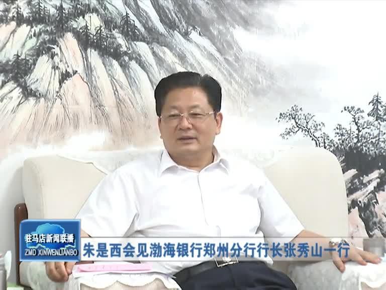 朱是西会见渤海银行郑州分行行长张秀山一行