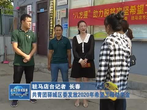共青团驿城区委发放2020年希望工程助学金