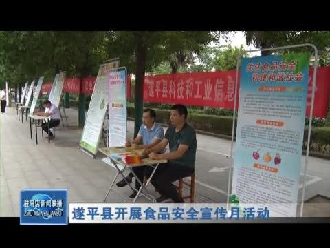 遂平县开展食品安全宣传月活动