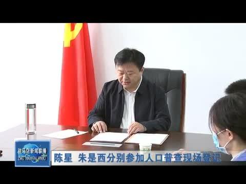 陈星 朱是西分别参加人口普查现场登记