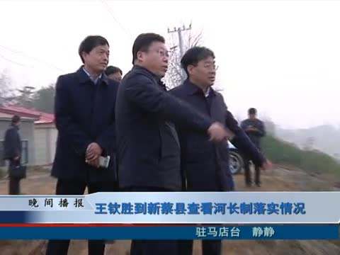 王钦胜到新蔡县查看河长制落实情况