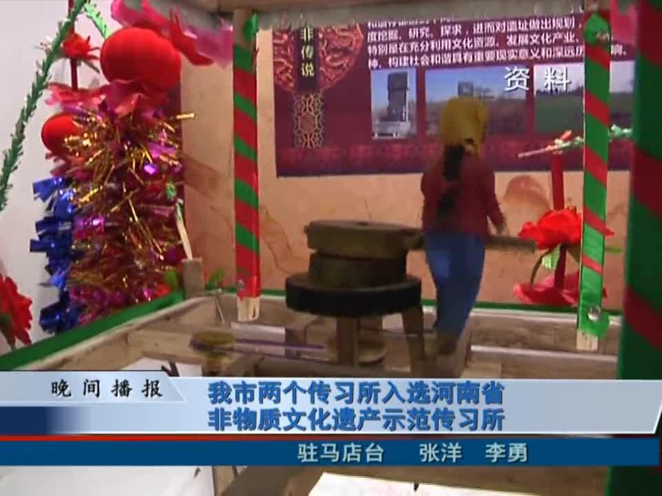 我市两个传习所入选河南省非物质文化遗产示范传习所