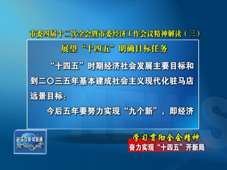 市委四届十二次全会暨市委经济工作会议精神解读(三)