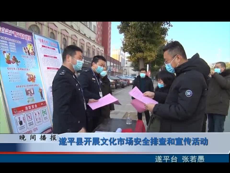 遂平县开展文化市场安全排查和宣传活动