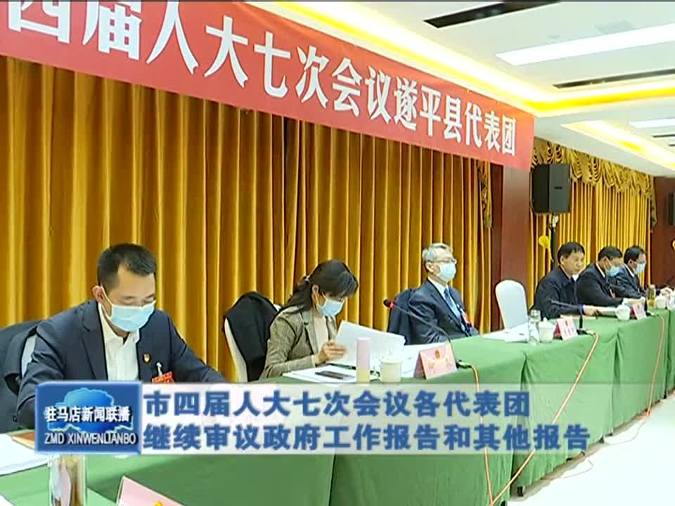 市四届人大七次会议各代表团继续审议政府工作报告和其他报告