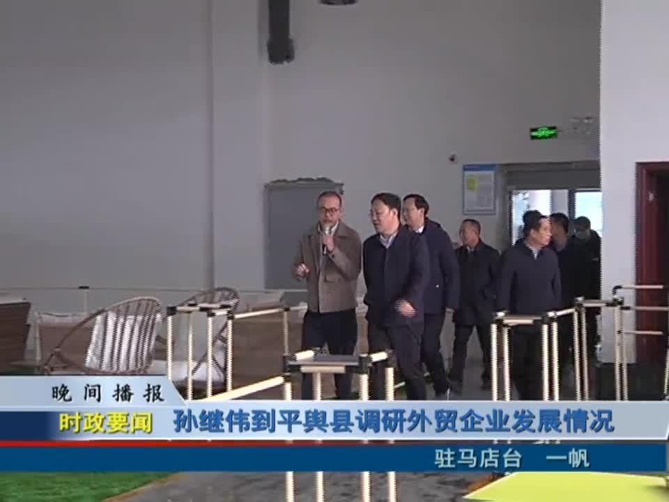 孙继伟到平舆县调研外贸企业发展情况