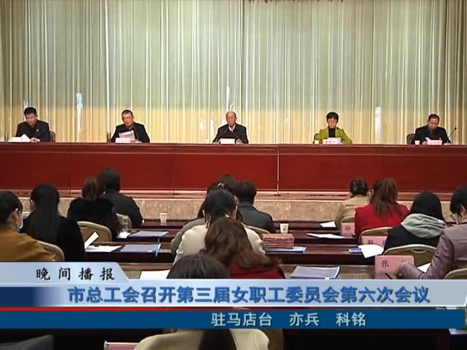 市总工会召开第三届女职工委员会第六次会议
