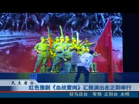 红色豫剧《血战雷岗》汇报演出在正阳演出