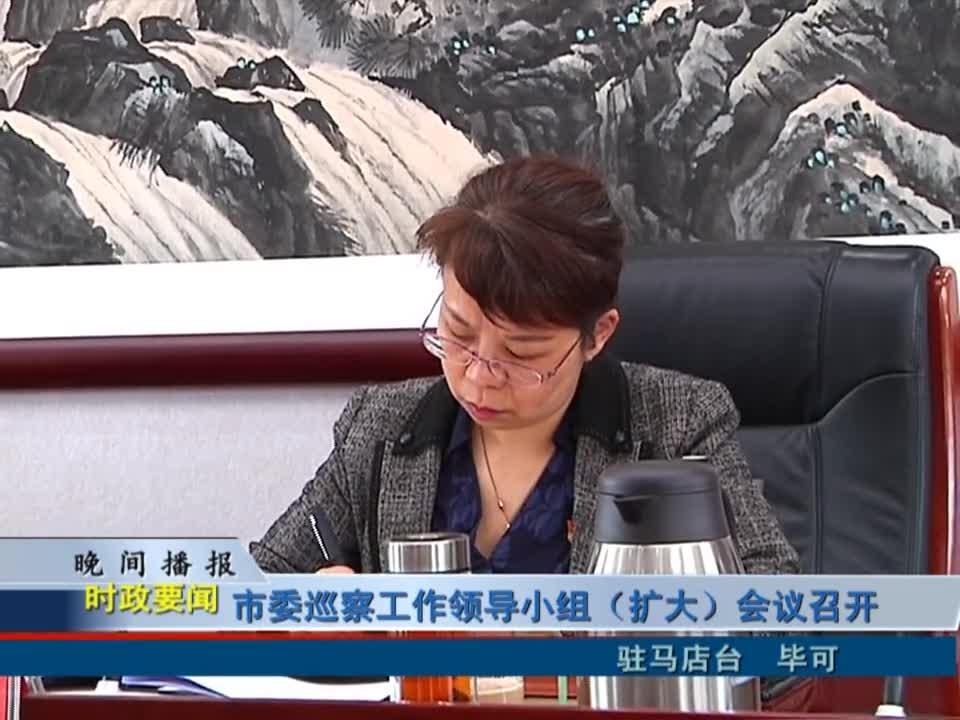 市委巡查工作领导小组(扩大)会议召开