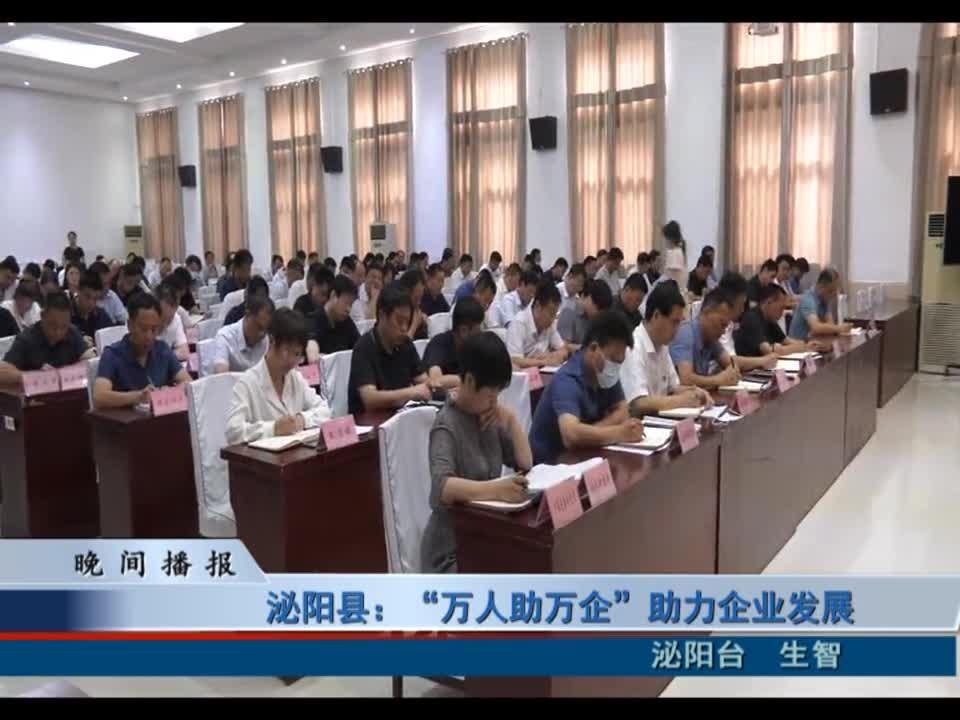 """泌阳县:""""万人助万企""""助力企业发展"""
