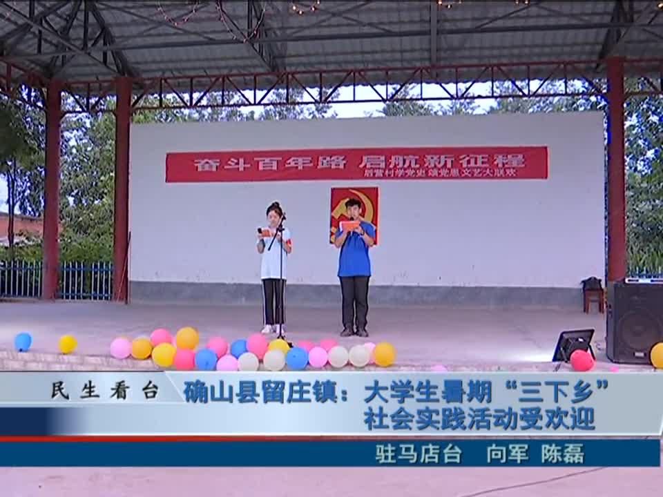 """确山县留庄镇:大学生暑期""""三下乡""""社会实践活动受欢迎"""
