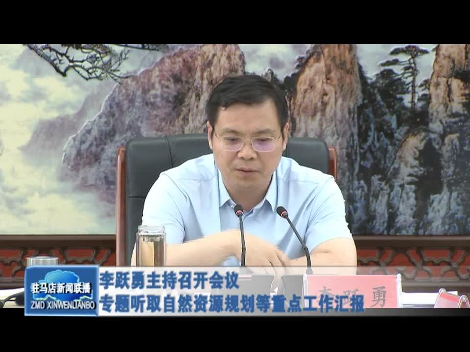 李跃勇主持召开会议 专题听取自然资源规划等重点工作汇报