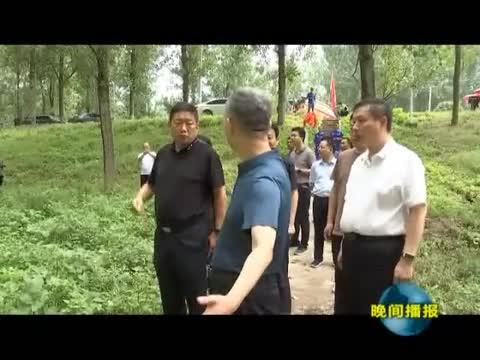 刘晓文到上蔡县调研督导防汛工作