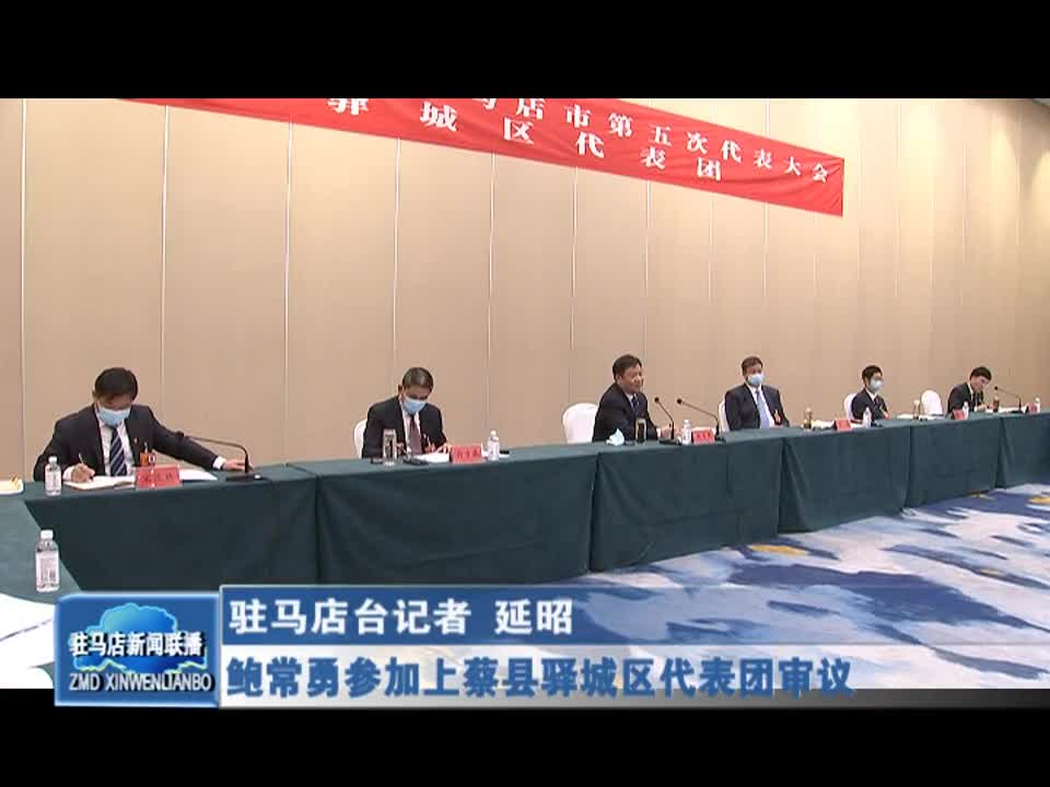 鲍常勇参加上蔡县驿城区代表团审议